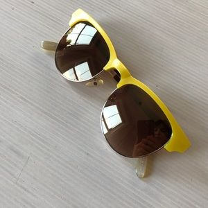 Anthrolopologie Rose gold, yellow, grey sunglasses